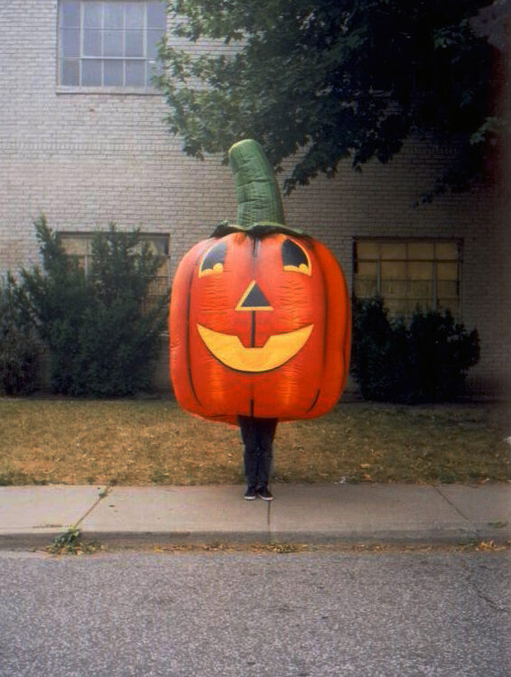 Pumpkin Inflatable Costume (Jack O' Lantern)