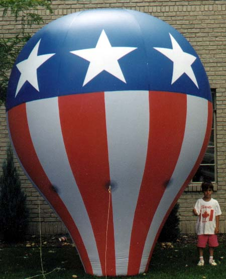 Hot Air Balloon Replica (Stars and Stripes), 12'