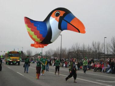 toucan parade balloon