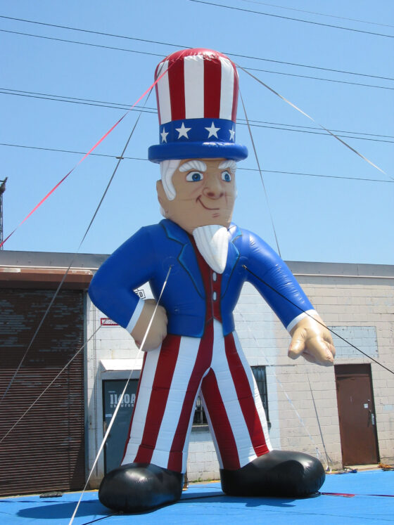 Uncle Sam Cold Air Parade Balloon, 20'