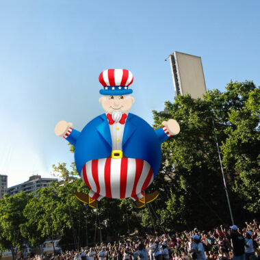 Uncle Sam Round Balloon, 30'