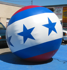 Patriotic Ball Parade Balloon