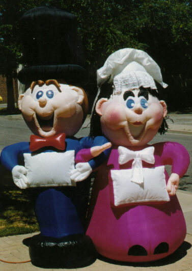 Ad Man & Woman Inflatables