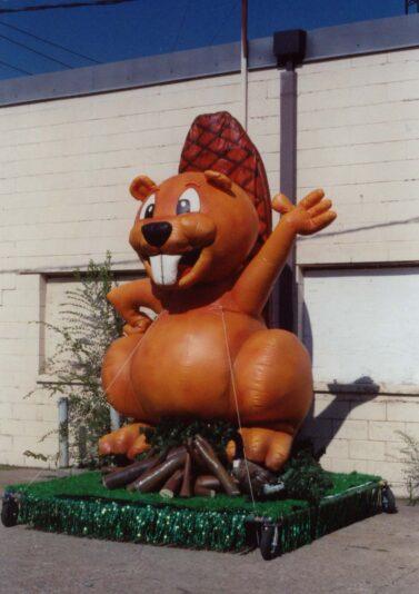 beaver parade float