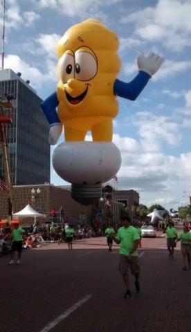 CFL Lightbulb Parade Balloon