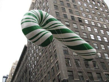 Candy Cane Green Helium Balloon