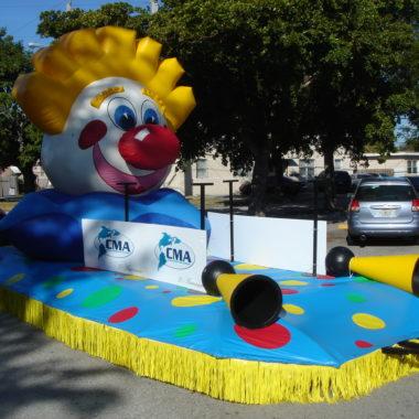 Clown Head Parade Float