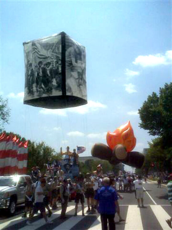 Photo Cube Parade Balloon, 9x12'