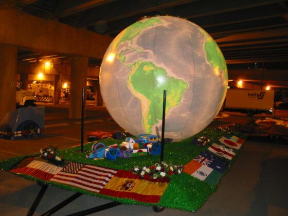 Small World Globe Parade Float