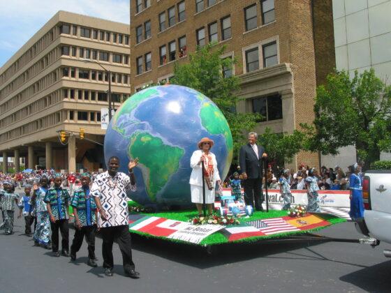 World Globe Parade Float