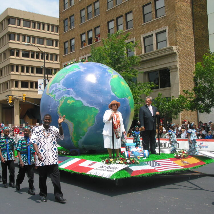 World Globe Parade Float
