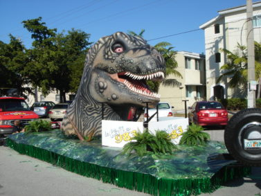 dinosaur parade float