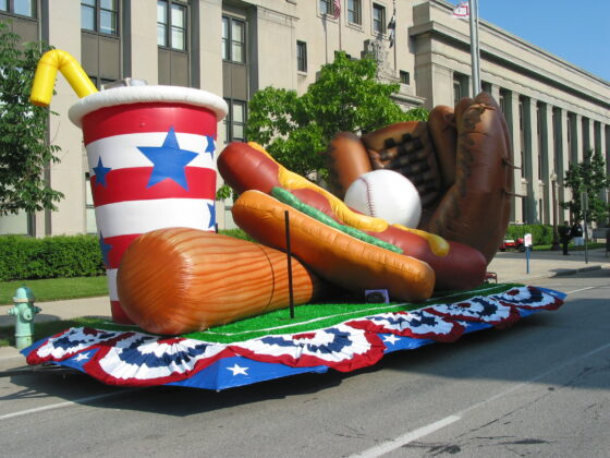 Ball Game Parade Float