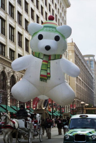 Winter Bear with Green Hat