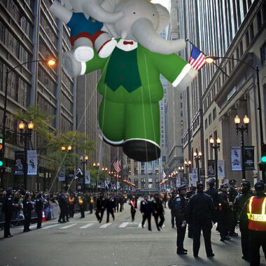 Babar the Elephant Parade Balloon, 45'