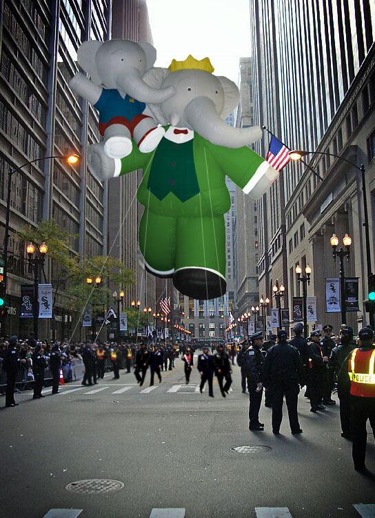 Babar the Elephant Parade Balloon, 45'