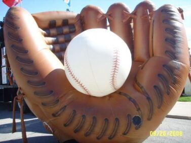 Baseball Glove Cold-Air Balloon