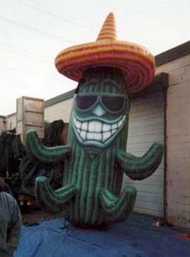 Cactus w/ Sunglasses Parade Balloon, 20'
