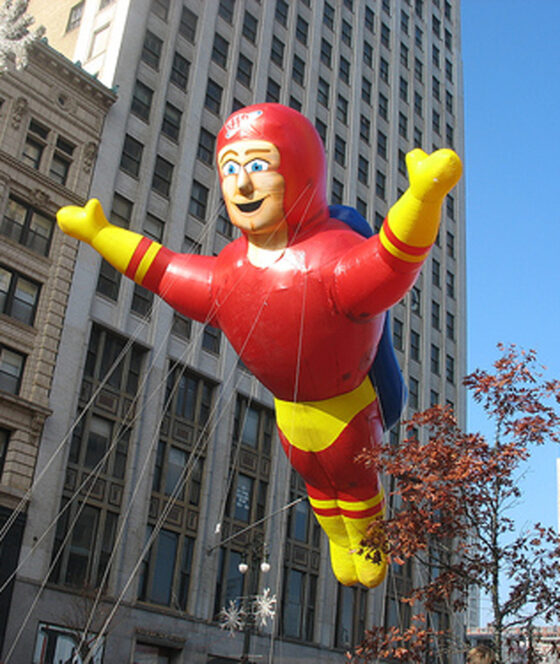 Captain Safety Super Hero Parade Balloon