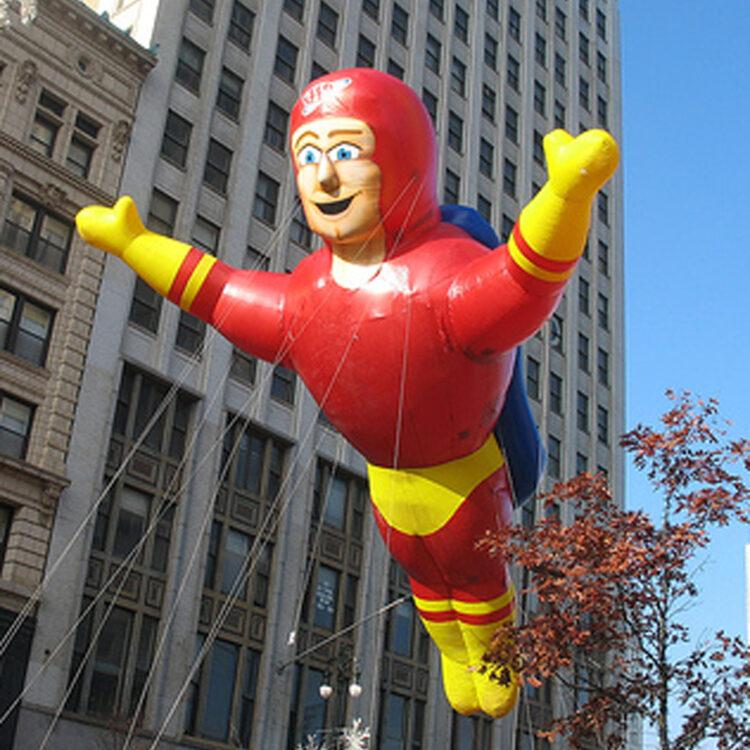 Captain Safety Super Hero Parade Balloon
