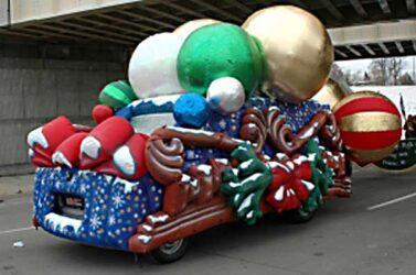 Christmas Ornaments Parade Float