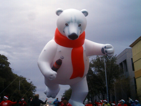 Coke Bear Parade Balloon