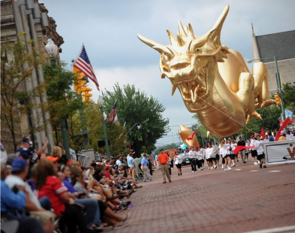 Golden Dragon Parade Balloon