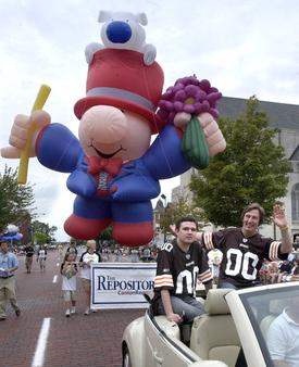 Ziggy on Parade in Canton, Ohio with the Pro Football Hall of Fame Festival