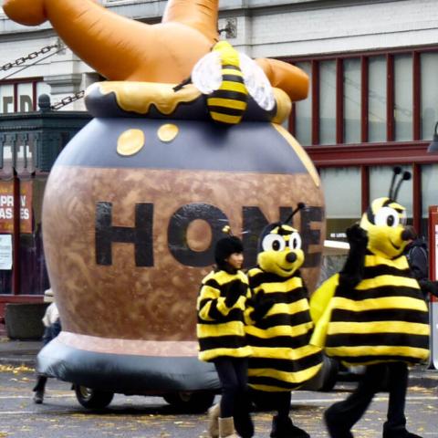 Pooh in Honey Pot Parade Balloon