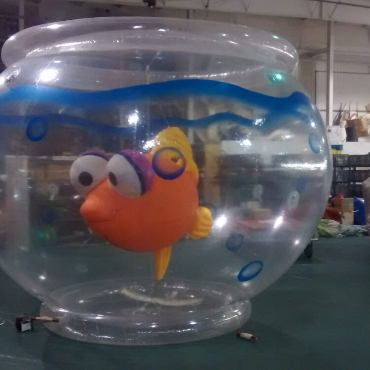 Fish in a bowl parade balloon