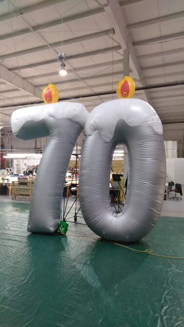 70 Candles Parade Balloon