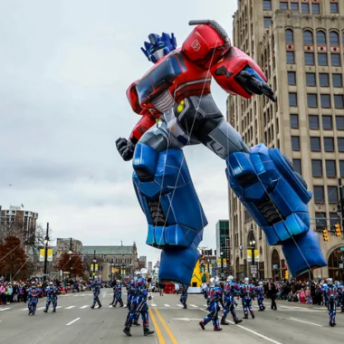 Optimus Prime Balloon Detroit Parade