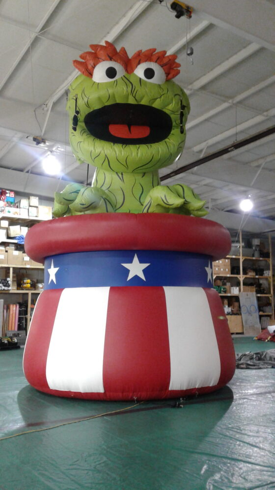 Oscar the Grouch in Uncle Sam Hat