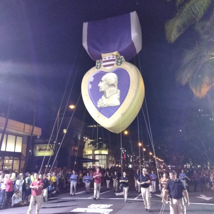 Purple Heart Parade Balloon
