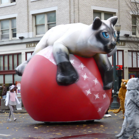Cat on Ornament Parade Balloon