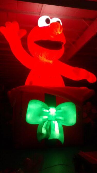 Elmo with internal lights