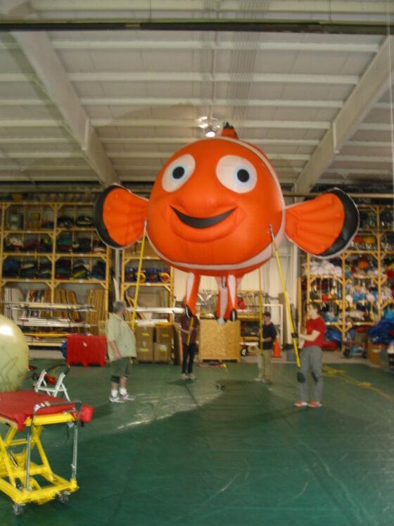 Clown Fish Parade Balloon (Pole Unit), 20'
