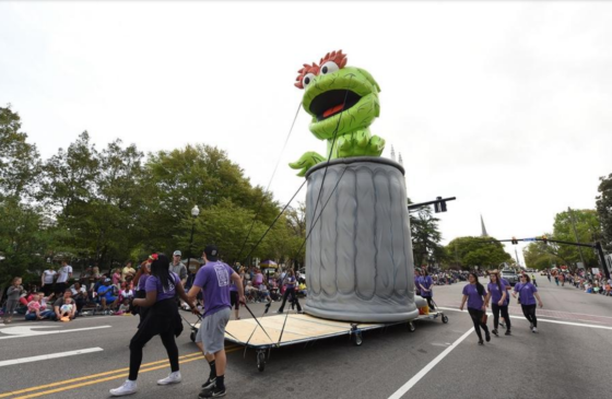 Oscar cold air in Azalea Fest Parade 2018