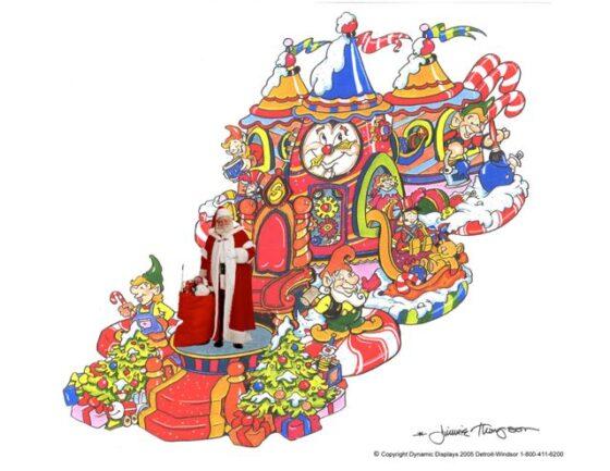 Santas Workshop Parade Float