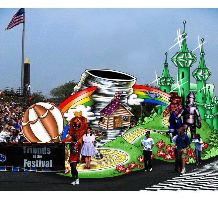 Wizard of Oz Parade Float