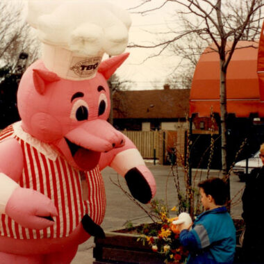 Tunnel BBQ Pig Inflatable Costume