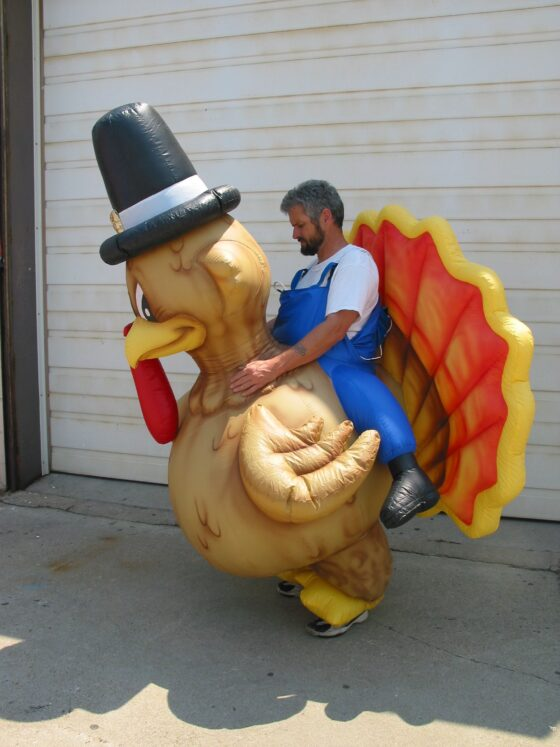 Turkey Inflatable Costume Side